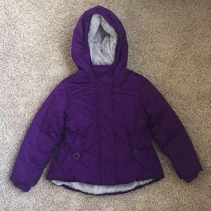 Girls Lands End Winter Coat- 3t. Plum Purple